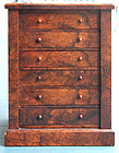 English Miniature Wellington Chest of Drawers