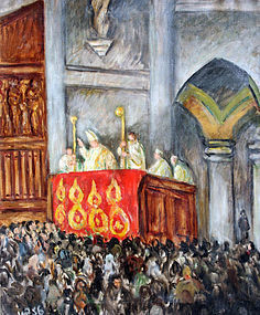 Modernist Painting of Papal Blessing, Venice by Waldo Peirce (American