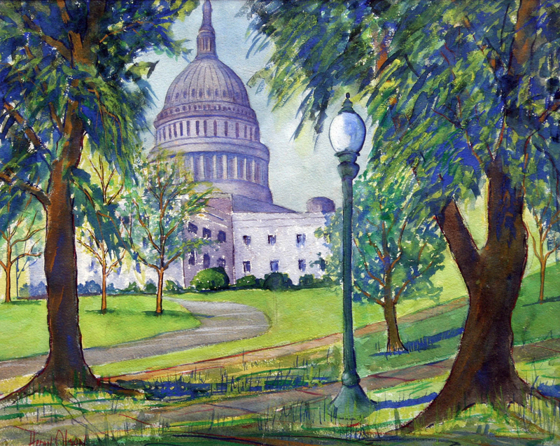 View of The United States Capitol by Henry Olson