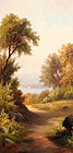 River Landscape by Renard (American,19th Century)