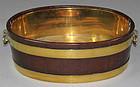 Latge 18th C. English  Mahgony And Brass Wine Cooler