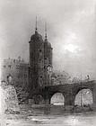 Miniature of Heidelberg by Theodor Verhas  (German,1811-1872)