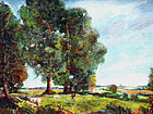 Summer Landscape by Samuel Baldwin Pratt,(Am.1903-1999)