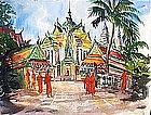 Buddhist Temple by Celine Marie Tabary (Fr. b.1908)