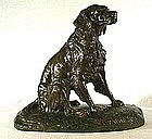 Bronze of a Setter by Clovis Masson (Fr. b 1838)