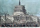 Nast Engraving of the Inauguration Of President Lincoln