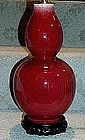 Antique Chinese Oxblood Vase wired as a Lamp