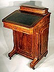 Exceptional Burled Walnut Captain's Desk