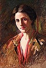 Portrait by E. Christine Marie Voss Lumsdon, Am. b.1870