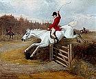 Hunt Painting by J.W. Hillyard (British., 19th C)