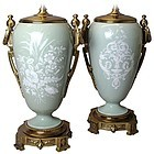 Fine Pair of Antique French Porcelain Lamps