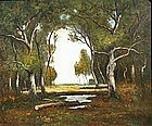 A Clearing in the Forest by Max Weyl (Am., 1837-1914)
