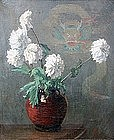 French Still Life with Dahlias