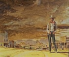 The Sheriff by William Taylor Oughton (Am.,  b. 1925)