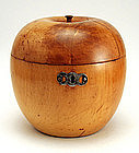 Rare 18th century Apple-form Tea Caddy