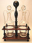 Antique English Two Bottle Cruet Set