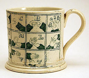 Rare Staffordshire Child�s Cup