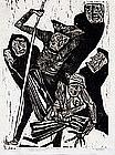 Woodcut by Nicholas Sperakis (American, b.1943)