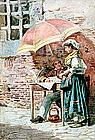 Genre Scene by Belisario Gioja (Italian, 1829-1906)