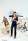 Watercolor of a Soldier by J.M. Farquhar