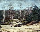 Barbizon Landscape by Jean François Millet, fils