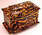 Regency �tiger� Tortoiseshell Tea Caddy