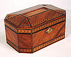 American Carved and Inlaid wood Jewelry Box