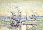 Small American Impressionist Landscape