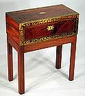 English Walnut and Rosewood Lap Desk