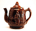 """Rebecca at the Well"" Bennington Teapot"