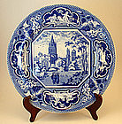Antique Staffordshire Plate of Christ Church, Oxford