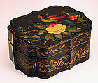 Tole Box with Peacock Decoration