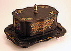 Toleware Shaped Box with Attached Undertray