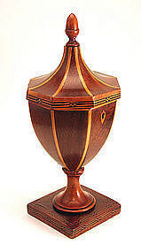 George III Urn-Form Tea Caddy in Shape of Knife Box