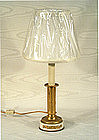 Small French Ormolu and Marble Lamp