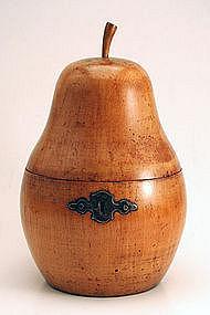 George III Pear-form Fruitwood Tea Caddy