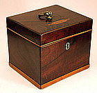 18th-Century Mahogany and Satinwood Tea Caddy