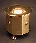 American Arts & Craft Brass Tea Caddy