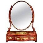 "Exceptional ""Adam"" Decorated Dressing Mirror"