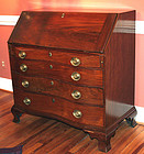 American Chippendale Ox-Bow Slant-Front Desk