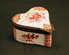 19th-century Heart-Shaped Enamel Box