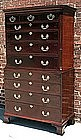 Antique Chippendale Style Chest on Chest