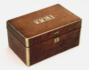 Antique American Maple Tea Caddy