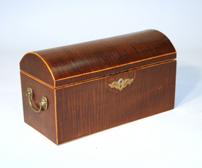 Exceptional English Domed Top Tea Caddy