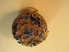 A Beautiful Chinese Vintage Enamel Silver Pendant