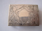 Early 20th C. Chinese Silver Match Box  MK.
