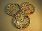 Group of 3pcs Chinese Famille Rose Porcealian Plates