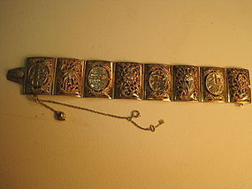 Early 20th C. Vintage Chinese Thai Silver bracelet
