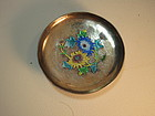 Early 20th C. Chinese Silver Enamel Small Dish