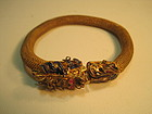 A Vintage Chinese Silver Gold Wash Bracelet / Bangle